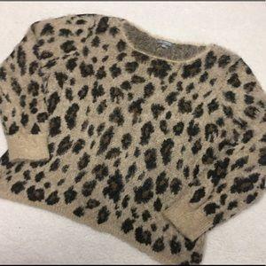 Cozy Fuzzy Leopard Print Sweater